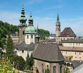 A photography of a view to salzburg