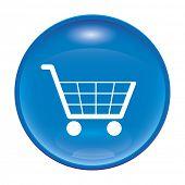Una imagen de un icono comercial azul brillante