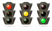 vector traffic lights isolated on white