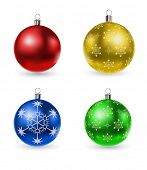 vector christmas balls set