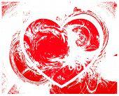 vector grunge red heart background