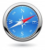 picture of orientation  - compass icon - JPG