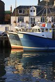 Fishing boats in Weymouth Harbor.