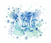 Hand Sketched Winter Lettering Typography poster