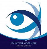 Diseño llamativo del ojo con el espacio de la copia.