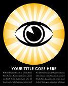 Diseño de sunburst ojo brillante.