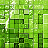 Abstract Bathroom'S Tiles Green