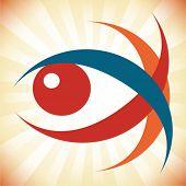 Diseño llamativo del ojo.