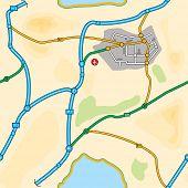 baldosa inconsútil mapa de una zona típica de Reino Unido