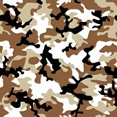 Desert camouflage abstract seamless background in shades of brown