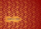 inter linking abstract orange and red background design with copy space