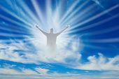 Uma visão de Deus no céu.