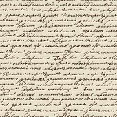 pic of cursive  - Seamless vector texture based on manuscript Leo Tolstoy - JPG