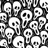 Scary. Seamless vector wallpaper