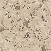 Map antique (seamless vector wallpaper). All elements easy for select and change on separated layers