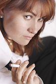 Businesswoman With Cigarette
