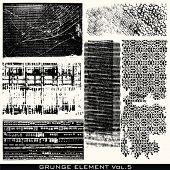 6 texturas de grunge sucio para su diseño. Echa un vistazo a mi portafolio para más elementos de diseño!
