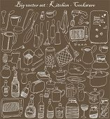 big vector set : kitchen