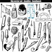 Vector conjunto - garabatos - pincel y pluma