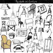 doodles vector set - furniture