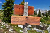 Continental Divide Trail Sign In Wind Rivers Range Wyoming Along Continental Divide Trail No. 094, F poster