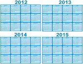2012, 2013, 2014, 2015 Calendar