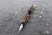 BOSTON - OCTOBER 23: Middletown High School youth men's Eights races in the Head of Charles Regatta.