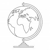Geography Icon. Outline Illustration Of Geography  Icon For Web poster