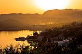 Srebreno And Mlini On Dubrovnik Coastline Sunset View, Southern Dalmatia Region Of Croatia poster