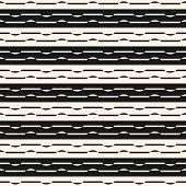 Horizontal Stripes Seamless Pattern. Abstract Linear Black And White Vector Background. Striped Grap poster