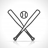 Vector Illustration Of Baseball Or Softball Icon poster
