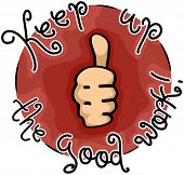 pic of job well done  - Icon Illustration Featuring a Thumbs Up - JPG
