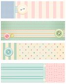 Set of vector banners in shabby chic style