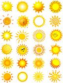 Vector Illustrations of Suns