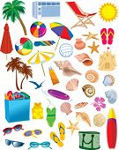 Beach Items Vectors