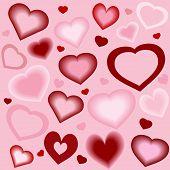 Stylized Hearts Background