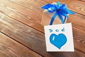 Close Up Of Fathers Day Gift. Macro Photography. Close Up. Object. poster