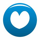 Reliable Heart Icon. Simple Illustration Of Reliable Heart Icon For Any Design Blue poster