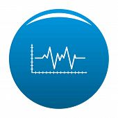 Cardiogram Icon. Simple Illustration Of Cardiogram Icon For Any Design Blue poster