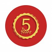 5 Years Anniversary Sign. Element Of Anniversary Sign. Premium Quality Graphic Design Icon In Badge  poster