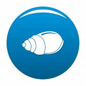 Single Shell Icon. Simple Illustration Of Single Shell Icon For Any Design Blue poster