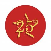 25 Anniversary Sign. Element Of Anniversary Sign. Premium Quality Graphic Design Icon In Badge Style poster