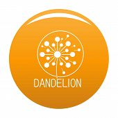 Faded Dandelion Logo Icon. Simple Illustration Of Faded Dandelion Icon For Any Design Orange poster