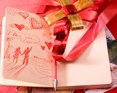 Valentine Liebesbrief in moleskine