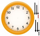 Simple Clock With Yellow Plastic Frame