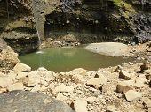 Songgolangit scenic waterfall