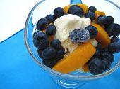 Summer Fruit And Ice Cream Treat