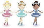 Three beautiful lovely girls of ballerinas