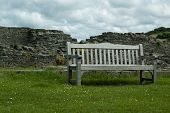 Castle Ruin Bench Viewpoint