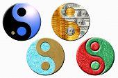 Four Yin Yang Symbols